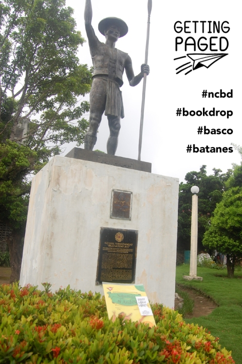 2013 PBBY-Salanga and PBYY-Alcala Winner Ngumiti si Andoy was dropped in front of this monument of Kenan, Aman Dangat Buenaventura,  Protomartyr Ivatan chieftain executed under Spanish rule in 1791 for defending his people's indigenous rights and freedom.